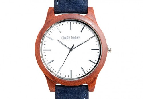 Hudson wood watch